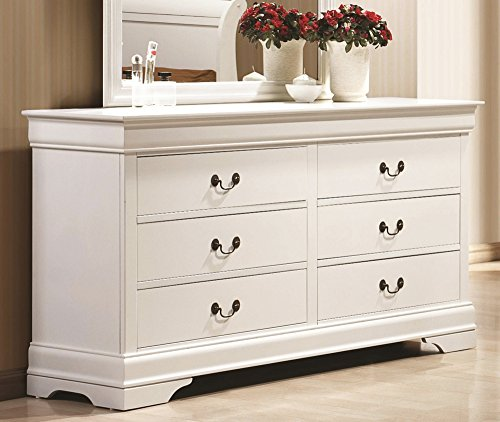 Coaster Home Furnishings 204693 Traditional Dresser, (Bureau Mirror)