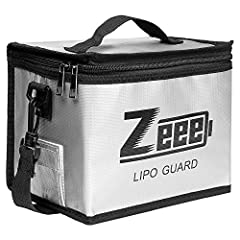 Zeee Lipo Battery Safe Bag LiPo sacks Guard Fireproof - for Lipo Battery Charge & Storage Protect your home and valuables from a fire due to a Lipo battery failure with Zeee Lipo-Safe bag. Useful for storage, travel and during charging. T...