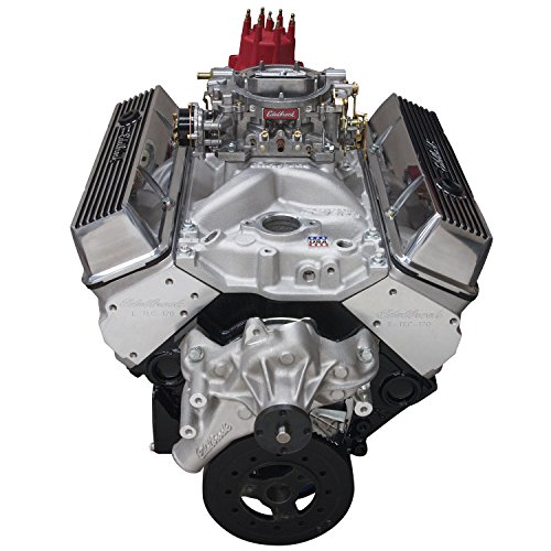Edelbrock 46420 Performer 363 Hi-Torq Crate Engine 9.0:1 Compression 353HP/405Torque PerformerEPSVortecManifold/750 CFM Performer Series Carb Elec.Choke w/Long Water Pump PN[8811] Satin Performer 363 Hi-Torq Crate Engine ()