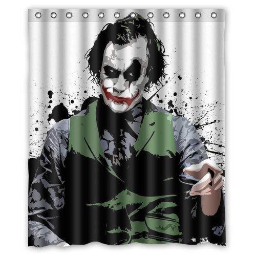 Aloundi Custom Best Anime Batman Joker Shower Curtain Decoration Waterproof Polyester Fabric Bathroom Shower -