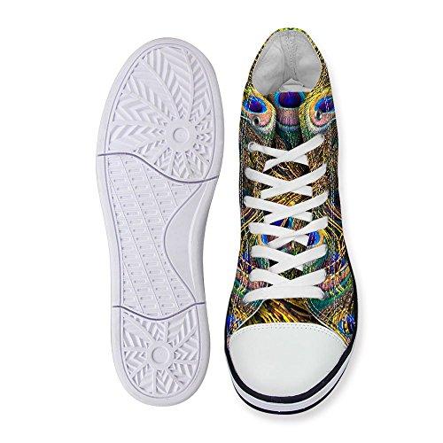 Voor U Ontwerpt Coole Hoge Top Heren Heren Canvas Mode Sneakers Lace Up Goud