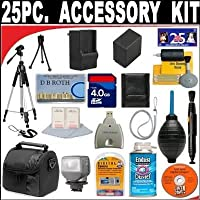 25 PC ULTIMATE SUPER SAVINGS DELUXE DB ROTH ACCESSORY KIT For The Samsung SMX-F54, F53, F50, H300, H303, H304, H305 Camcorder