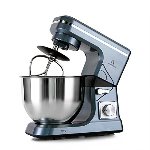 Copper Champagne Bowl (MURENKING Stand Mixer MK36 500W 5-Qt 6-Speed Tilt-Head Kitchen Food Mixer with Accessories (Gray Blue))