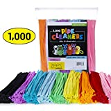 Zees 1,000 Pipe Cleaners in 10 Assorted Colors, Value Pack of Chenille Stems for DIY Arts and Craft Projects and Decorations - 6mm x 12 Inches