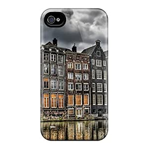 OJo1942rnOE City Facade At A Canal Hdr Awesome High Quality Iphone 6 Cases Skin