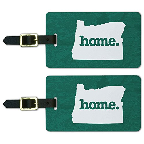 Oregon OR Home State Luggage Suitcase ID Tags Set of 2 - Textured Teal
