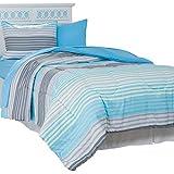 Bedford Home Monaco 25-Piece Reversible Dorm Set, Full