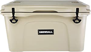 Snowball Coolers, Rotomolded Insulation Ice Chest for Camping, Fishing, Hunting, BBQs & Outdoor Activities, Tan, 69QT(65L)