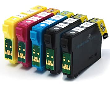 5 compatible Cartuchos de tinta para impresora Epson Stylus ...