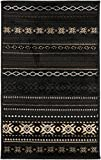 Diva At Home 2.75' x 7.5' Brown and Black Decorative Machine Made Area Throw Rug with Low Pile