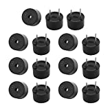 Aexit 15Pcs 3V Miniature Active Buzzer Magnetic Long Continous Beep Tone 9mm x 5.5mm