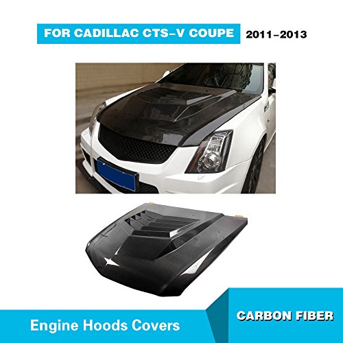 MCARCAR KIT For 2011 2012 2013 Cadilac CTS CTS-V Coupe Factory CNC Moulding Carbon Fiber Top Fit Front Engine Hood Cover