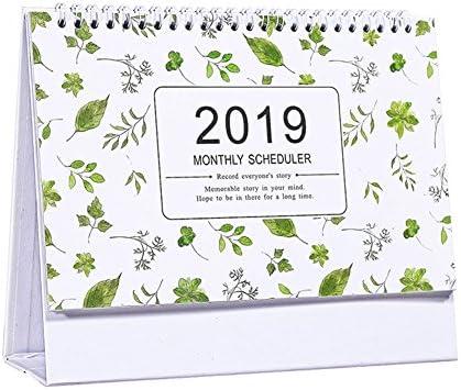 2018-2019 Schöner Schreibtisch-Kalender, grünes Blatt