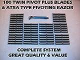 100 Personna Twin Pivot Plus Blades & Pivoting Head Razor