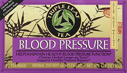 Triple Leaf Tea, Tea Bags, Blood Pressure, 1.06-Ounce Bags, 20-Count Boxes (Pack of 6) (Best Home Remedy For Low Blood Pressure)