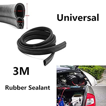 Universal 3M Car Door Black Rubber O U Channel Edge Edging Trim Seal Trunk Strip