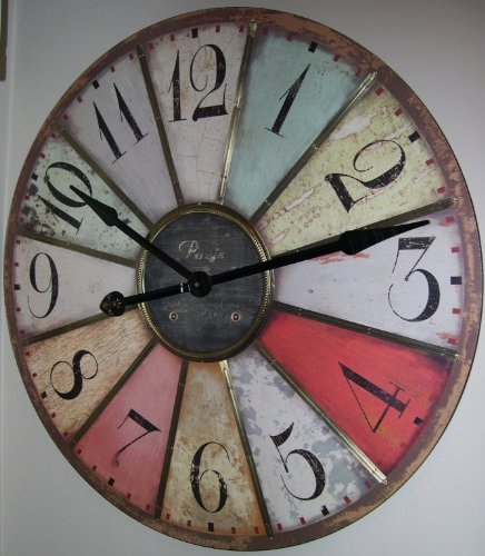 Amazon Large 29 Vintage Style Paris Wall Clock Home Kitchen