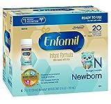 Enfamil Newborn Baby Formula - 2 fl oz Plastic Nursette Bottles,6 Count (Pack of 4)