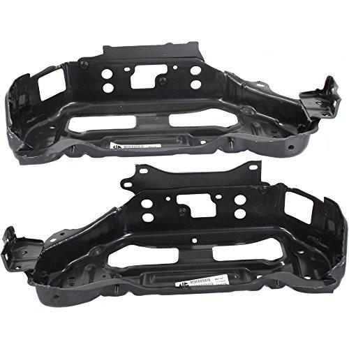 Evan-Fischer EVA1790107141572 Radiator Support Set of 2 for Toyota Yaris 07-12 Right and Left Side Sedan -