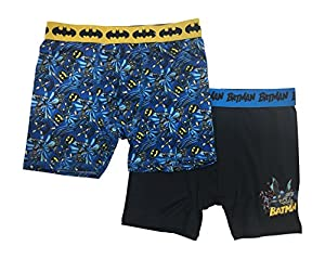 DC Comics Boys' Batman 2pack Athletic Boxer Briefs-LIGHT , COOL , COMFORTABLE