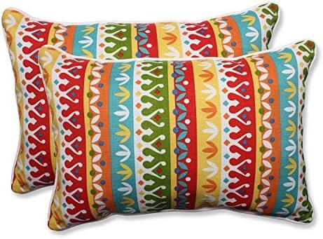 Pillow Perfect Outdoor Indoor Cotrell Garden Oversized Lumbar Pillow