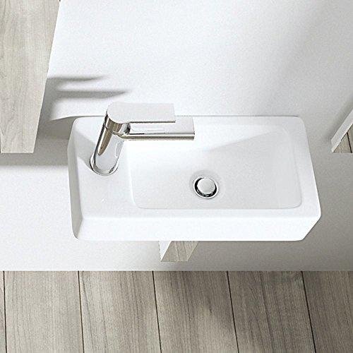 Durovin Bathrooms Compact Ceramic Basin Wall Hung Mount