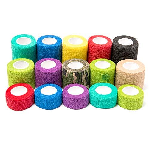 Self Adhesive Bandage, Iaimee Self Adherent Cohesive Wrap Bandages Rolls by Iaimee