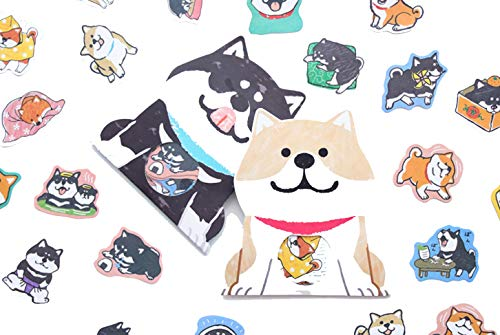 - Cute Stickers Set, Cute Shiba Inu/Akita, Laptop Stickers for Girls, Japanese Stickers, Personalize Laptop Water Bottle Notebook Luggage Decals, Best Gift for Kids,- No-Duplicate Pack (Series F)