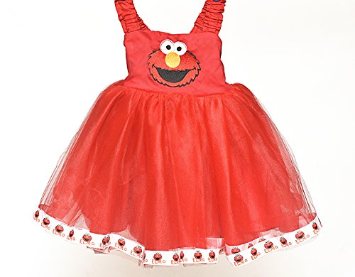 Elmo Face Tutu Dress (2T) -