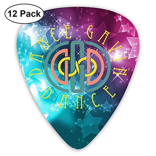 Alberto J Campbell Dance Gavin Dance Guitar Picks Guitar Accessories 12 Pcs for Electric Guitar, Acoustic Guitar, Mandolin, and Bass