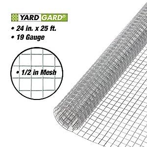 YARDGARD 308224B 19-Gauge Hardware Cloth, 2-Feet by 25-Feet