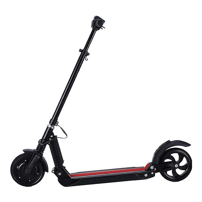 NEORIDE Scooter eléctrico Plegable NeoBooster NeoBooster Negro 8 de Ancho - Suspensión Delantera - Pantalla Digital - Ultra Ligero - 36 V