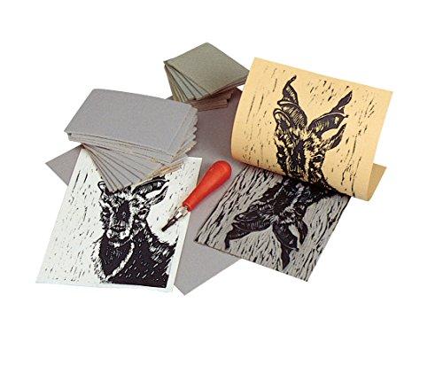 Unmounted Linoleum - Speedball Unmounted Linoleum Block, 5 x 7 in, Gray