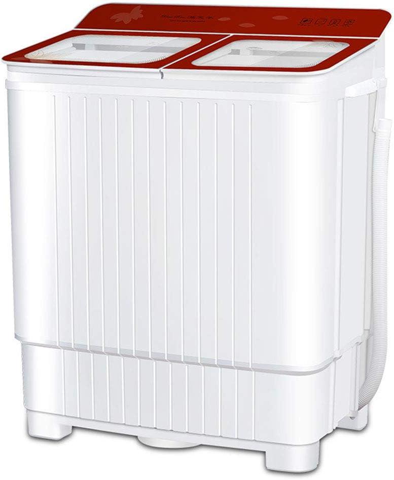 Mini Lavadora,Lavadora Portatil,Lavadora SemiautomáTica de 8 KG /13 KG de Capacidad Total Combinada y Secadora Bajo Consumo Silencioso Combo Compacta Para dormitorios de Camping Apartamentos,Red