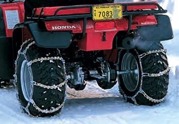 Cadenas de nieve 25 X 8 - 12 Quad ATV UTV terreno Neumáticos: Amazon.es: Coche y moto