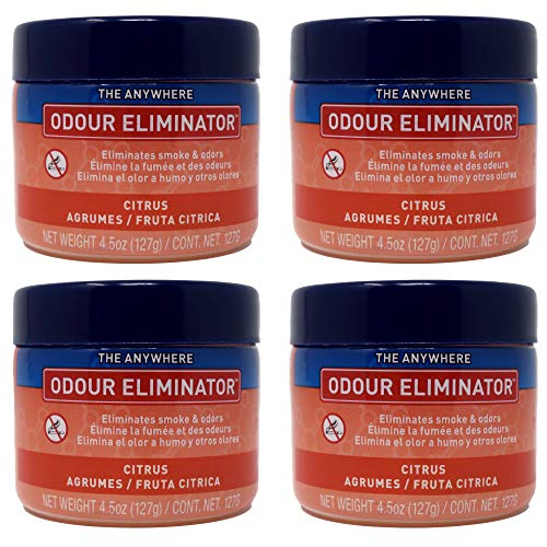 Ozium Gel Smoke & Odor Eliminator - The Original Anywhere Odor Eliminator & Deodorizer, Fresh Citrus Scent for Home, Office, RV and Car Air Freshener 4.5 oz Gel (Pack of 4)