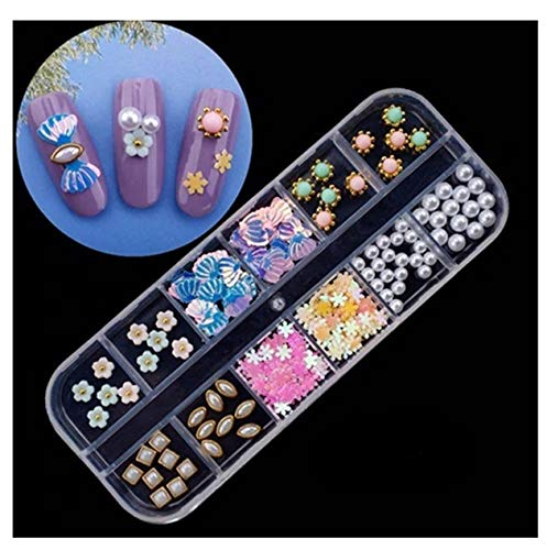 1 Pc Dried Flowers Glass Studs Nails Art Rhinestones Dainty Popular Nail Crystals Crystal Kits Painting Pen Brushes Stickers Decals Tools Professional Stencils Unicorn Halloween Tips, Type-13 ()