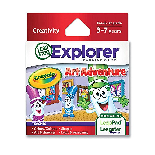 LeapFrog Crayola Art Adventure Learning Game (Works with LeapPad Tablets,Leapster Explorer GS, and Leapster Explorer) image