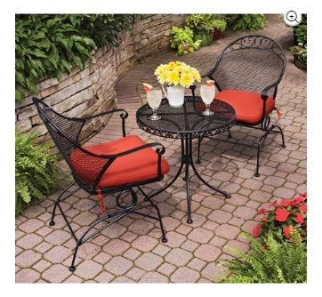 (Clayton Court 3-Piece Motion Outdoor Bistro Set, Seats 2 - Best quality for a low price (Red))