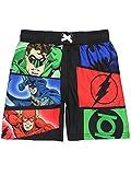 Justice League Boys Swim Trunks Swimwear (8, Black)