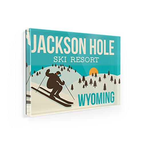 Fridge Magnet Jackson Hole Ski Resort - Wyoming Ski Resort - NEONBLOND