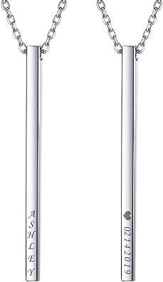 25mm Long Modern Pendant Vertical Charm Sterling Bar Pendant