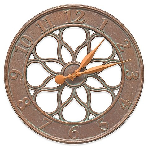 Whitehall Products Medallion Indoor/Outdoor Wall Thermometer in Copper Verdigris by Whitehall (Image #1)