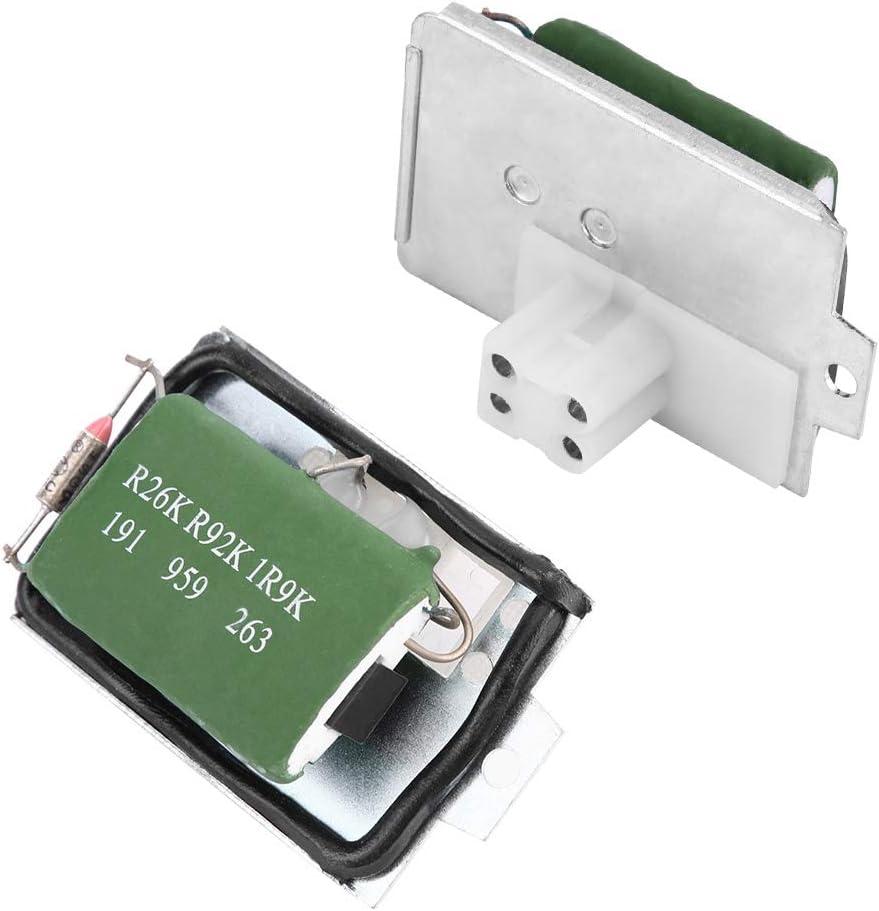 Dibiao Resistencia de Control Del Ventilador Del Calentador Accesorios de Repuesto Duraderos para El Asiento Del Autom/óvil 191959263 191959263C 191959263 1008000029 1008400000 102972