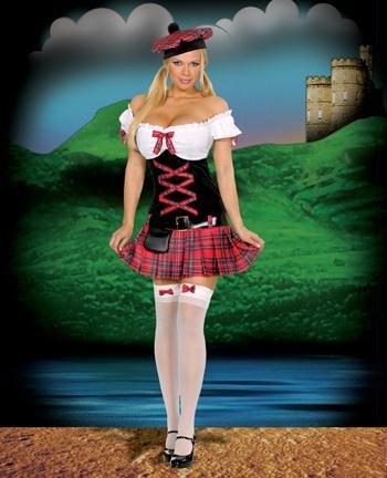 Sassy Lassie Costume - X-Small - Dress Size 0-2 -