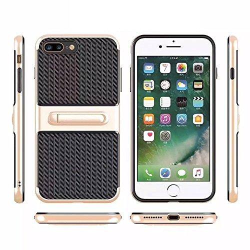 MXNET IPhone 7 Plus Case, TPU + ABS Öl Auslauf Handwerk Kombination Schutzhülle mit Halter CASE FÜR IPHONE 7 PLUS ( Color : Rose gold )