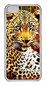 iPhone 5c case, Cute Tiger Drawing Effect iPhone 5c Cover, iPhone 5c Cases, Hard Clear iPhone 5c Covers