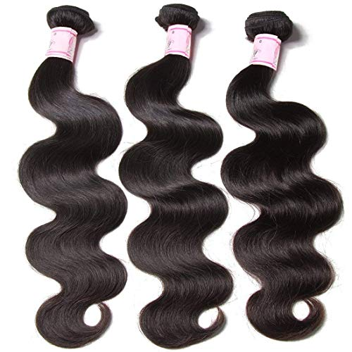 Beauty Forever Hair Brazilian Virgin Body Wave Hair 3 Bundles 10 12 14 inch 10A Unprocessed Virgin Human Hair Weave Extensions Natural Color(100+/-5g)/pc