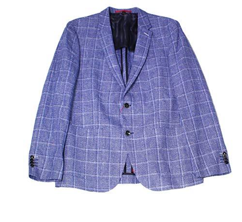 Hugo Boss Mens Notch-Collar Two Button Wool Blazer Blue ()