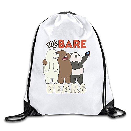 We Bare Bears Sports Drawstring Backpack For Men & Women (Womens Elements Warners)